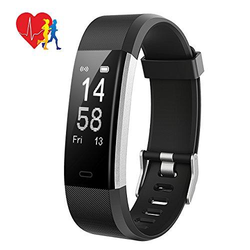 Fitness Tracker,Mpow Fitness Armbänder Aktivitätstracker,Herzfrequenzmonitor,Schlafmonitor,Schrittzähler mit 14 Trainingsmodi, 4 Uhrzeiger,GPS-Routenverfolgung,Alarme,Kameraaufnahme,USB Anschluss direkt laden für Android iOS Smartphone