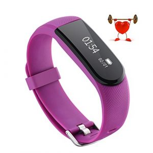 OMORC ID101 HR Fitness Armband, Bluetooth Herzfrequenz Fitness Tracker Sport Armband smart bracelet Smartwatch mit Pulsmesser, Schrittzähler, Aktivitätstracker, für Android und iOS – Blau