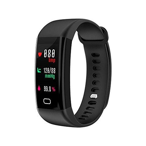 Fitness Tracker, teepao Smart Armband Activity Tracker Herzfrequenz Blutdruckmessgerät Professional Kalorien Track, Sleep Monitor IP68Wasserdicht Smart Watch Schrittzähler Armband für Android & iOS Schwarz