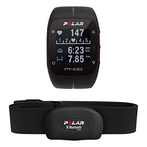 Polar GPS-Laufuhr M400 HR, schwarz, 90051341