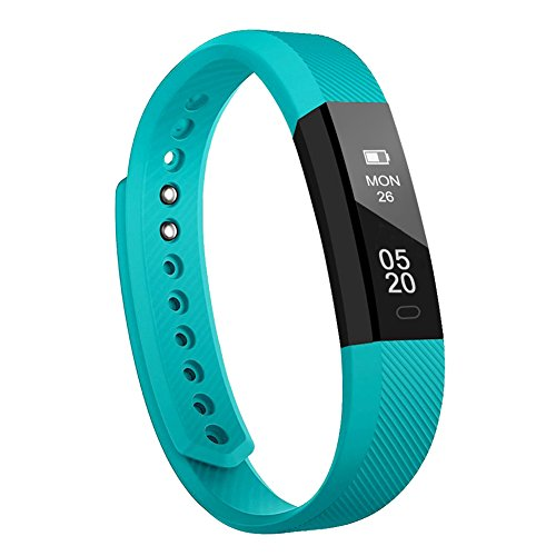 Fitness Armband Lintelek Fitness Tracker wasserdicht Fitness Uhr Aktivity Tracker Schrittzähler Schlaf Monitor Pedometer Kalorie Anrufe/SMS/Whatsapp Vibration für Android und IOS Grün