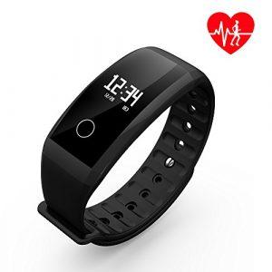 Fitness Tracker, SHAOLIN Fitness Armbanduhr Wasserdicht Fitness Tracker mit Herzfrequenz / Schlafmonitor / Kalorienz?hler / Multi- Sport Aktivit?tstracker – Smart Fitness Armband Android IOS (Schwarz)