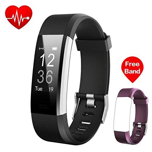 Fitness Tracker,iPosible Fitness Armbänder Armband mit Pulsmesser Aktivitätstracker Pulsuhren Bluetooth Smart Armbanduhr,Herzfrequenzmonitor,Schlafmonitor,Schrittzähler,GPS-Routenverfolgung,Alarme für Android iOS Smartphone mit einem Ersatzarmband