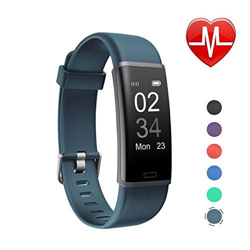 Letsfit Schrittzähler Fitness Tracker mit Pulsmesser Fitnessarmband wasserdicht IP67 Pulsuhren Smart Armband Uhr Aktivitätstracker mit Schlaf Monitor kompatibel mit für Android iOS Smartphone