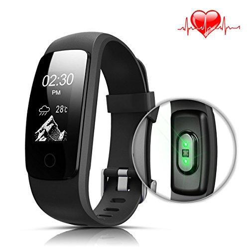 Fitness Tracker mit Herzfrequenz LASUAVY Fitness Armbanduhr Wasserdicht/ Schlafanalyse / Kalorienzähler/ SMS / Aktivitätstracker Schrittzähler - Fitness Armband Fitness Armbänder mit Pulsmesser Smartwatch Damen Herren Android IOS