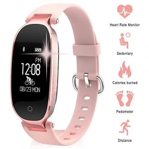 Bluetooth Smart Uhr, Miya Multifunktionale Intelligente Armband Mode Frauen Damen Leicht Wasserdicht Pulsmesser Fitness Tracker Smart Armband für Android IOS.
