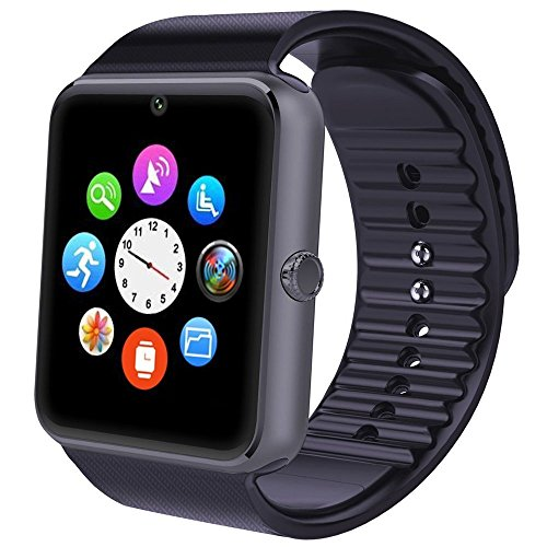Smartwatch, Willful Bluetooth Smart Watch Intelligente Sport Uhr Armbanduhr Fitness Tracker mit Schrittzähler, Schlafanalyse, 1.54 Zoll Touchscreen, Kamera, SMS Facebook Vibration Kompatible Android Handy für Herren Damen