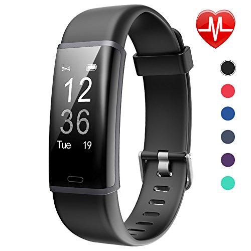 Fitness Tracker HR Lintelek Aktivität Tracker Fitness Armband mit Integrierter Herzfrequenzmessung am Handgelenk IP67 Wasserdicht Fitness Uhr Schlaftracker Kalorienzähler