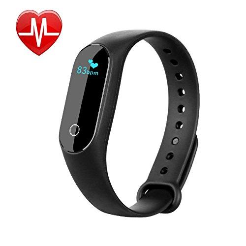 Parsion Fitness Armband Fitness Tracker Aktivitätstracker Activity Tracker für Android und IOS, Schrittzähler, Schlafanalyse, Push-Message und Anrufer für Kinder Damen Herren Android iOS