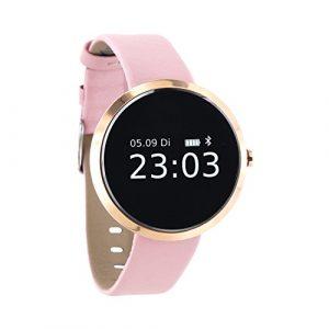 X-WATCH SIONA Smartwatch Damen iOS und Android Watch – Damenuhr Rosegold Aktivitätstracker Damen Elegant Fitnessarmband mit Herzfrequenz Fitness Uhr mit Schrittzähler