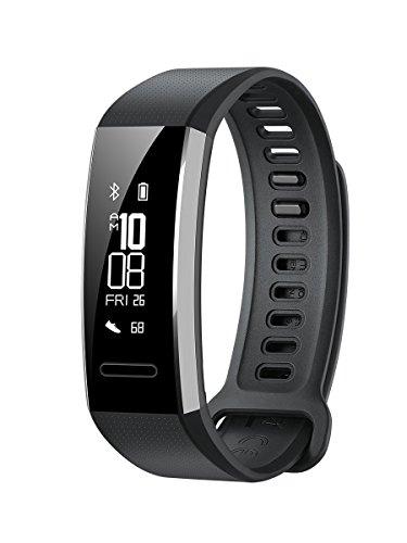 Huawei Band 2 Pro Fitness-Tracker (GPS, Bluetooth, Herzfrequenzmessung, Wasserdicht bis 5 ATM) Schwarz