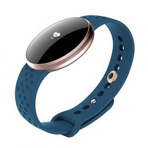 Damen Fitnessarmband Smart Watch für Apple Android Handys mit Bluetooth Fitness Schlaf Überwachung Wasserdicht Automatischer Wake Display …