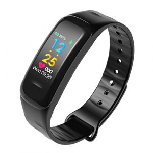 Fuibo Smartwatch, Bluetooth Smart Watch Fitness Tracker Blutdruck Pulsmesser | Intelligente Armbanduhr Sport Fitness Tracker Armband (Schwarz)