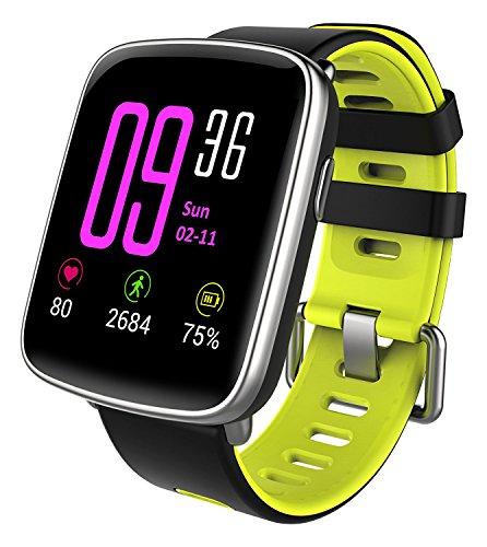 YAMAY Smartwatch Bluetooth Smart Watch Uhr mit Pulsmesser Armbanduhr Wasserdicht IP68 Fitness Tracker Armband Sport Uhr Fitnessuhr mit Schrittzähler,Schlaf-Monitor,Setz-Alarm,Stoppuhr,SMS-, Anruf-Benachrichtigung Push/Kamera-Fernsteuerung Musik für Android und iOS Telefon
