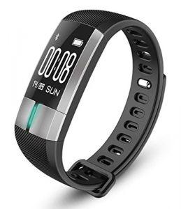 Fitness-Tracker smartHealth – Sport-Uhr mit Echtzeit-EKG, Blutdruck, Pulsmesser, Herzfrequenz, Schrittzähler und Schlafanalyse. Wasserfest und Temperaturenanzeige