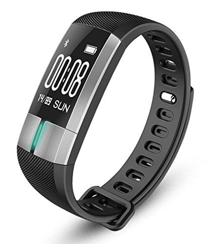 Fitness-Tracker smartHealth - Sport-Uhr mit Echtzeit-EKG, Blutdruck, Pulsmesser, Herzfrequenz, Schrittzähler und Schlafanalyse. Wasserfest und Temperaturenanzeige
