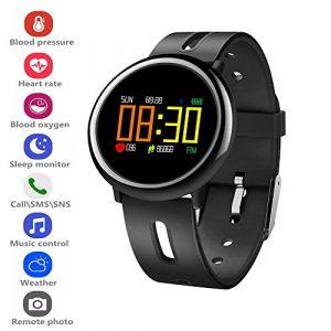 Fitness Tracker Smart Watch, elecfan Fitness Tracker mit Schrittzähler, Blutdruckmonitor, Herzfrequenz-Messgerät, Schlafmonitor, Schrittzähler, Aktivitätstracker Wasserdicht Smartwatch für Android iOS Männer Frauen
