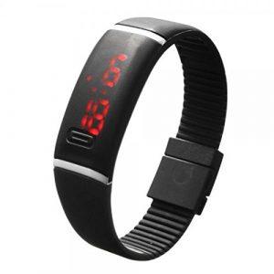 Imposes Armbanduhr Damen Herren Sportuhr Kinder Mädchen Jungen Uhr LED Digitaluhr Gummi Uhr für Sport Fitness Yoga