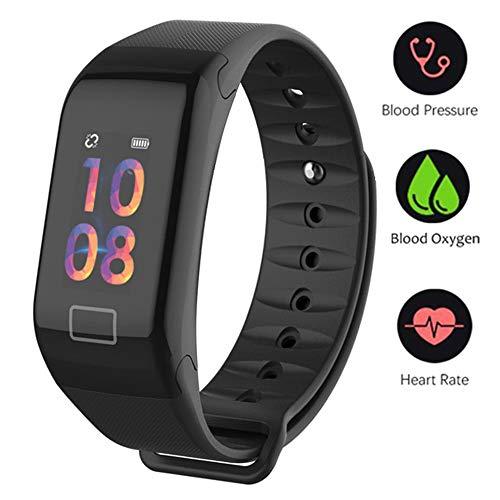 Fitness Tracker,Farbdisplay Fitness Armbanduhr Wasserdicht Fitness Tracker HR mit Herzfrequenz / Schlafanalyse / Kalorienzähler / Aktivitäts Tracker Schrittzähler / Blutdruck und Blutsauerstoffgehaltmessung - Smart Fitness Armband Android IOS