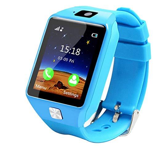 Ears Children Smart Watch Kinder Smart Watch GPS Tracker IP67 Wasserdichte Fitness Uhr SOS mit Kamera Wrist Watch Sport Male and Female Students Adults Waterproof Smartphone Multifunction (Blau)