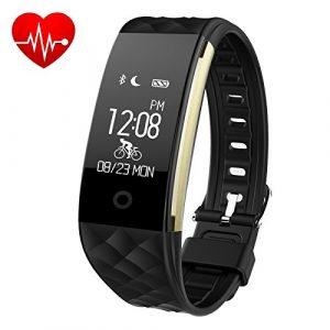 Fitness Armband Uhr mit Pulsmesser, iPosible Aktivitätstracker [ IP67 Wasserdicht ] Fitness Tracker Schrittzähler Herzfrequenzmonitor Bluetooth Smart ArmbandUhr Pulsuhren mit Schlafmonitor Vibrationsalarm Anruf SMS,GPS-Routenverfolgung,Kalorienzähler kompatibel mit iPhone Android Handy [ 2 Jahre Garantie ]