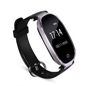 Fitness Tracker, AGPTEK Wasserdicht Fitness Armband Uhr mit mit Herzfrequenz, Schrittzähler Fitness Uhr Pulsmesser Schlafmonitor Kalorienzähler, Pulsmesser, Anruferinnerung SMS Whatsapp Beachten kompatibel mit iOS Android Handy, Grau
