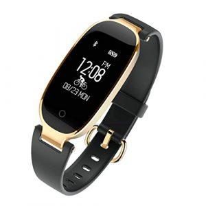 Frauen Smart Armband, JIAMEIYI Fitness Tracker Pulsmesser Wasserdicht Aktivität Tracker Smart Band Schlaf Monitor, Smart Watch Schrittzähler Armband für iOS & Android Handys