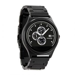 QIN II Herren Smartwatch Edelstahl iOS & Android Smartwatch – Smart Uhr Herren mit Fitness Tracker Funktionen – Smart Watch Android und iOS Smartwatch mit Pulsmesser