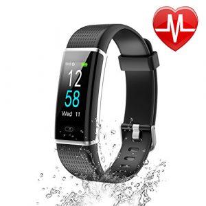 Letsfit Fitness Armband mit Pulsmesser Schrittzähler Uhr mit 14 Trainingsmodi IP68 Wasserdicht Fitness Tracker  Farbbildschirm mit Aktivitätstracker  Schlafanalyse Vibrationsalarm Anruf SMS WhatsApp Facebook Kompatibel mit Smartphone