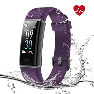 Syncwire Fitness Armband mit Pulsmesser, Farbbildschirm Fitness Tracker HR