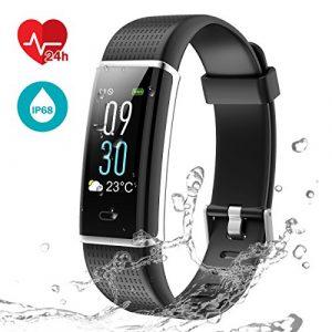 Fitness Tracker Uhr mit Pulsmesser, LATEC Farbbildschirm Smart ArmbandUhr Wasserdicht IP68 Aktivitätstracker Schrittzähler Watch mit 14 Trainingsmodi Wetteranzeige Schlafmonitor Kalorienzähler Anruf SMS