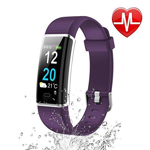 Letsfit Fitness Armband mit Pulsmesser Fitness Tracker Farbbildschirm Schrittzähler IP68 Wasserdicht Schwimmen Aktivitätstracker mit Schlafanalyse Kalorienzähler Kompatibel mit Android Smartphone
