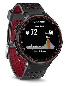 Garmin Forerunner 235 Schwarz und Marsala-Rot – GPS-Laufuhr mit Herzfrequenzmessung am Handgelenk, 010-03717-71