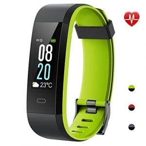 YAMAY Fitness Tracker,Wasserdicht IP68 Fitness Armband 0,96 Zoll Farbbildschirm Smartwatch Aktivitätstracker Pulsuhren Schrittzaehler Uhr Smart Watch Fitnessuhr für Damen Herren mit Schlafmonitor Kalorienzähler Vibrationsalarm Anruf SMS Whatsapp Beachten für iPhone Android Handy(Grün)