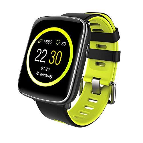 YAMAY Bluetooth Smartwatch Wasserdicht IP68 Smart Watch Intelligente Sport Uhr Fitness Tracker Armband mit Pulsmesser,Schrittzähler Armbanduhr,Schlaftracker,Stoppuhr für Herren Damen Kamera-Fernsteuerung Musik Vibrationsalarm Anruf SMS Whatsapp Beachten für iPhone Android Handy