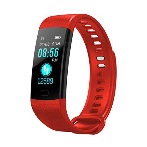 KingProst-Fitness Bluetooth Smartwatch Pulsuhren Armbanduhr Sport Uhr Fitness Tracker mit Pulsmesser SchrittzäHler Schlaftracker Kompatibel mit iPhone Android Handy (Blau)