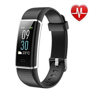 Pruvansay Fitness Tracker mit Pulsmesser, Fitness Armband Color Screen Activity Tracker Fitness-Uhr Wasserdicht IP68 Wetteranzeige Schlaf-Monitor Kalorienzähler Anruf SMS Whatsapp, Schrittzähler