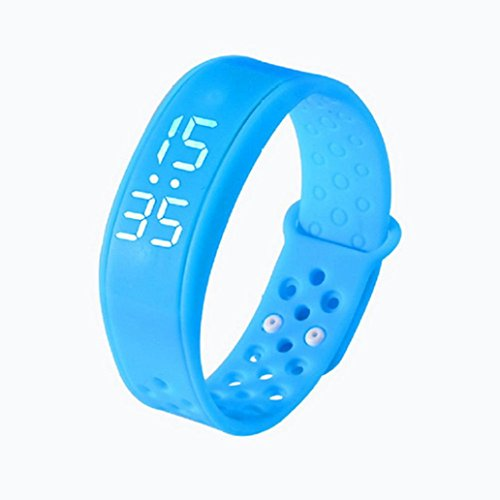 Fuibo Smartwatch, Kinder Aktivität Tracker Kids Schrittzähler Schrittzähler Fitness Band   Intelligente Armbanduhr Sport Fitness Tracker Armband (Blau)