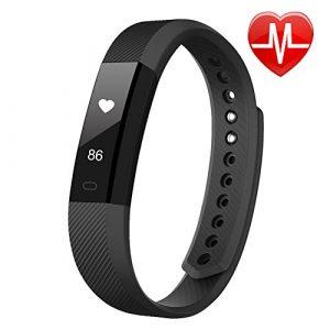 LETSCOM Fitness Armbanduhr mit Pulsmesser Wasserdicht Fitness Trackers Schrittzähler Kalorienzähler für Damen Kinder Herren