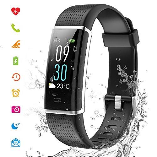 Cotify Fitness Tracker mit HD Farbdisplay Clevere Fitness Uhr Armband, Aktivitäten Tracker, Schlaf, Puls, Sport, GPS, Tracker, Kalorienzähler, Bluetooth, Kompatibel mit iOS & Android