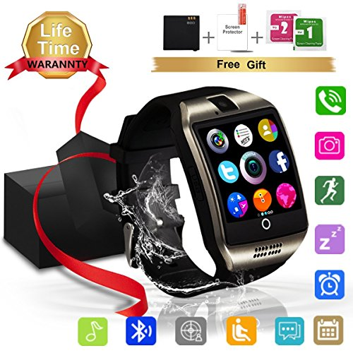 Bluetooth Smartwatch, Wasserdicht Smart Watch mit Sim Kartenslot Whatsapp Touchscreen, Intelligente Armbanduhr Sport Fitness Tracker Armband fur Android iPhone ios Samsung Sony Huawei Damen Herren