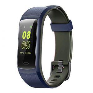 YAMAY Fitness Armband,Wasserdicht IP68 Fitness Tracker Farbbildschirm Aktivitätstracker Fitness Uhr Smartwatch,Pulsuhren,Schrittzähler für Damen Herren Anruf SMS Beachten für iPhone Android Handy