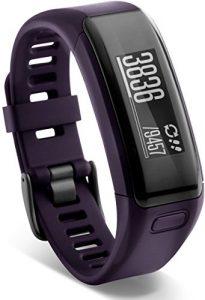 Garmin vívosmart HR Fitness-Tracker – integrierte Herzfrequenzmessung am Handgelenk, Smart Notifications, Purple, M – L (13,7-18,8 cm)