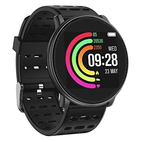 UMIDIGI Damen Herren Bluetooth Smartwatch Sportuhr Intelligente Armbanduhr Fitness Uhr Fitness Tracker mit Schrittzähler Schlaftracker Kompatibel mit Android Smartphone und iPhone - Schwarz