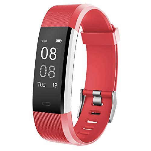 YAMAY Fitness Armband,Wasserdicht IP67 Fitness Tracker Smartwatch Aktivitätstracker Pulsuhren Smart Watch Schrittzähler Fitness Uhr Vibrationsalarm Anruf SMS Whatsapp Beachtenfür iOS Android Handy