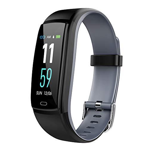 BZLine Bluetooth Smartwatch, Smart Watch Uhr Intelligente Armbanduhr Fitness Tracker Armband Sport Uhr mit Bunte Bildschirm Blutdruck Übung Herzfrequenz Schrittzähler für Kinder Frauen Männer (Grau)