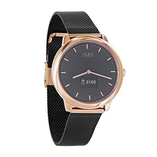Cleo XW Connect | Hybrid Smartwatch für Damen – Elegante, runde Damenuhr mit Schrittzähler – Aktivitätstracker Rosegold