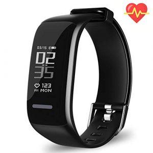 UWATCH Fitness Tracker, BY1 Fitness Armbanduhr Wasserdicht Fitness Tracker HR mit Herzfrequenz/Schlafanalyse / Kalorienzähler/Aktivitätstracker Schrittzähler – Smart Fitness Armband Android IOS