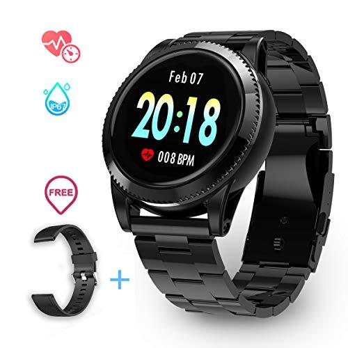 Smartwatch Herren, GOKOO Smart Uhr Stylische IP67 Wasserdicht Sportuhren Männer Jungen Fitness Tracker Aktivitätstracker mit Pulsmesser Kalorienzähler Schlaftracker 8 Trainingsmodi für Android und IOS