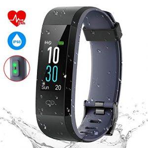 Pruvansay Fitness Armband mit Pulsmesser, Fitness Tracker IP68 Wasserdicht Smartwatch, 0,96-Zoll Farbbildschirm Aktivitätstracker,Schrittzähler für iPhone Android